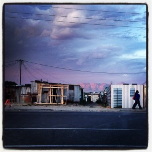 Khayelitsha at Dusk… just around the corner from the GAPA centre