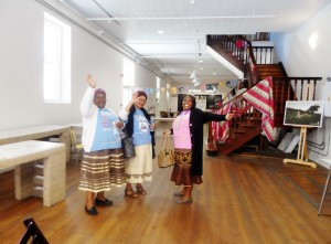 The grannies saying goodbye after the event