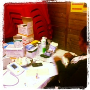 a snapshot of the health professionals at work at our premises